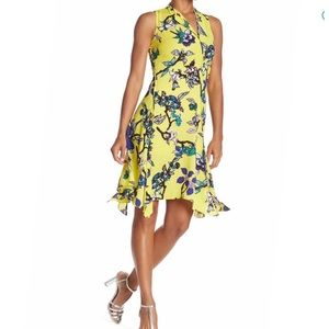 Diane von Furstenberg Double Split Floral Dress